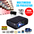 7000LM 1080P Portable LED 3D Projector Multimedia Home Office Theater Cinema USB HDMI