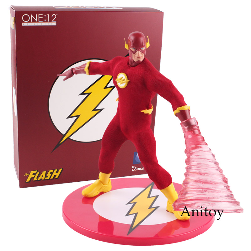 DC Comics Ation Figure The Flash Action Figure Speed Force Runing MEZCO 1/12 Scale PVC Figures Collectible Model Toy 15cm the flash man aciton figure toys flash man action figures collectible pvc model toy gift for children