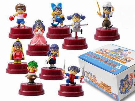 Free Shipping Anime Cartoon Dr. Slump Arale PVC Action Figure Collection Model Toys Dolls 9pcs/set Chirstmas Gifts ARFG013 ems shipping 12 sets cute super mario game mario luigi brothers set pvc action figure collection model dolls toy 3pcs per set
