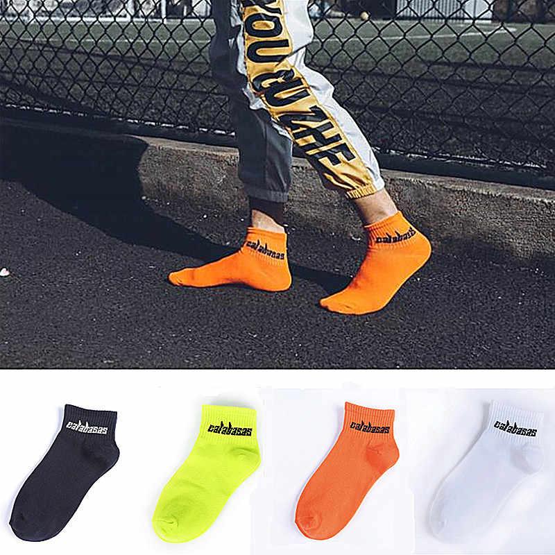ファッションカニエ西靴下男性と女性の夏の綿の靴下ストリートヒップホップ Calabasas 靴下スケートボードスポーツソックス