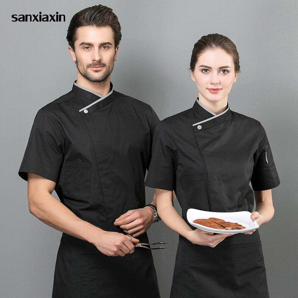 Sanxaixin Quality Uniform Restaurant Hotel Catering Chef Work Shirt Food Service Kitchen Chef Jacket Work Clothes Men Unisex