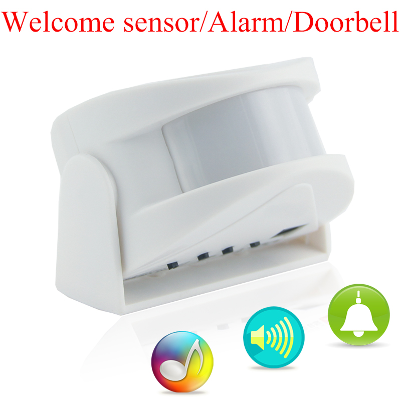 Wireless Door Bell Welcome Chime Alarm Music Switch PIR Motion Sensor Shop Home Hotel Entry Security Doorbell Infrared Detector thyssen parts leveling sensor yg 39g1k door zone switch leveling photoelectric sensors