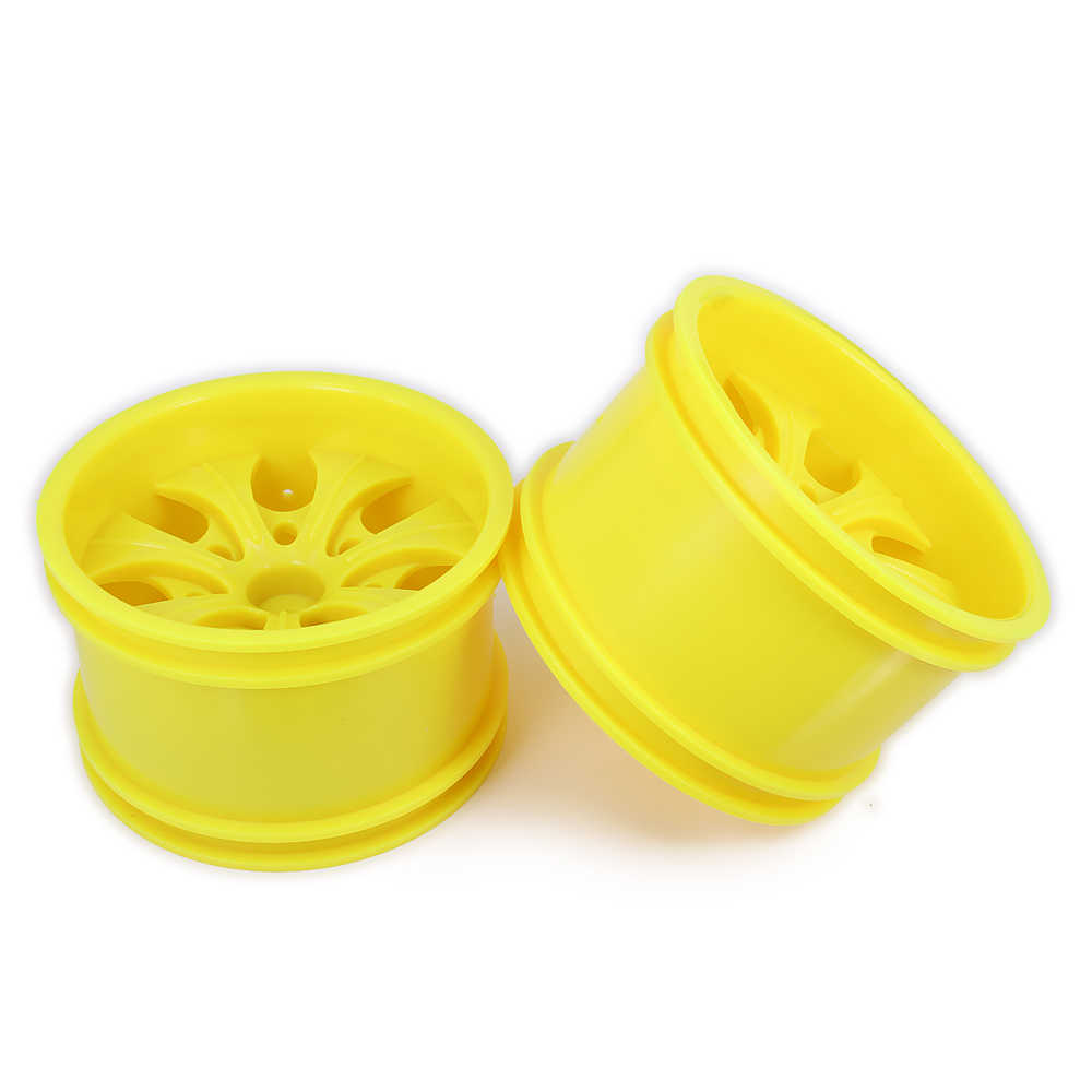 RCAWD 2PCS Velg w/o Band Voor Rc Auto 1/10 Grote Voet 78mm Monster TruckTyre HSP himoto HPI Redcat Rubber Plastic 7 10 Spoke