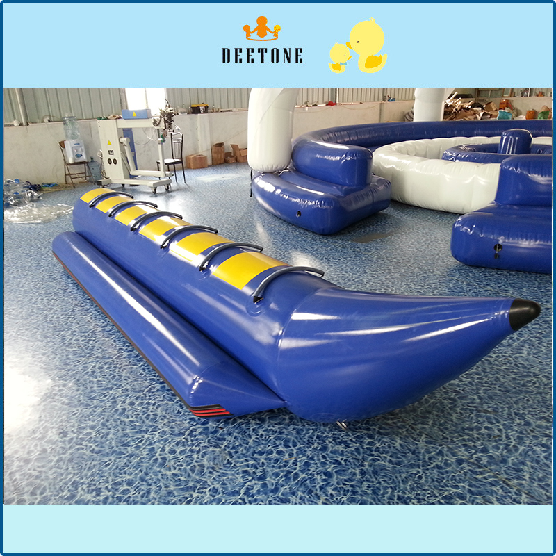 PVC Tarpaulin Inflatable Flying Fish Tube Towable/Inflatable Water Games Flyfish Banana Boat For Sea