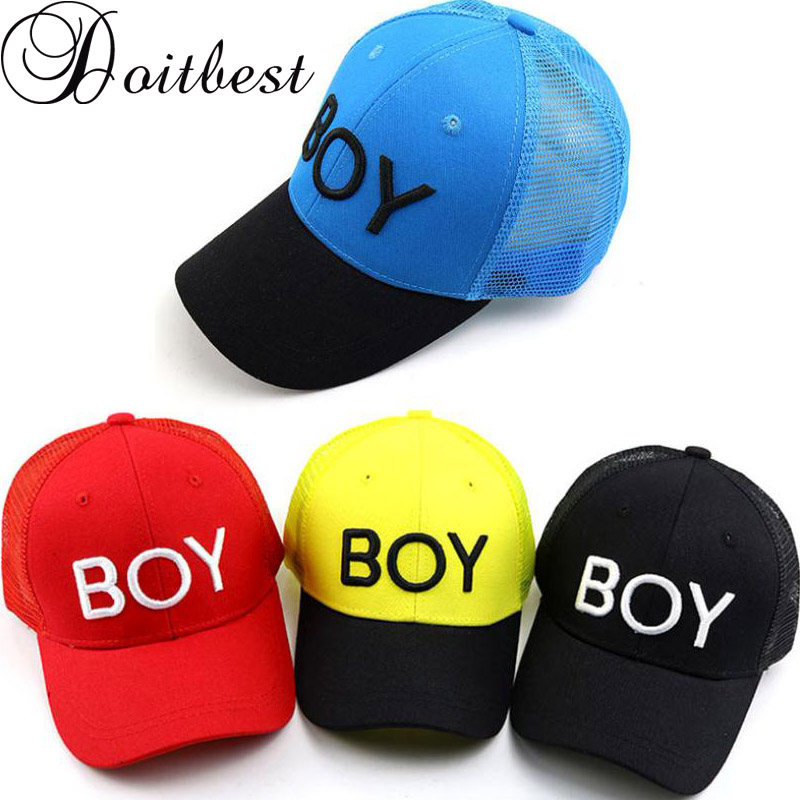 Doitbest Korea Child Hip Hop Baseball Cap Summer Embroidery BOY Kids Sun Hat Mesh Boys Girls Snapback Caps For 2 To 8 Years Old