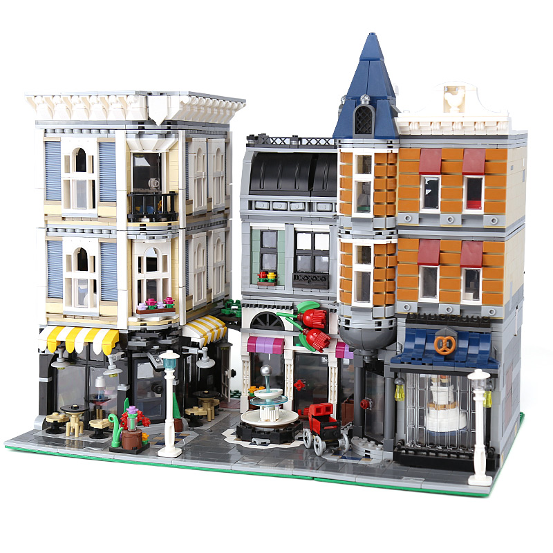 Série de construction DHL 15019 Compatible avec l'ensemble carré d'assemblage 10255 jouets pour enfants blocs de construction briques cadeaux de noël-in Blocs from Jeux et loisirs    1