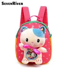 Los niños de dibujos animados lindo cat mochila para bebé mochilas niños mochila mochila felpa del bolso de escuela para la muchacha del muchacho