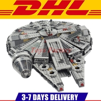 2015 New Star Wars The Force Awakens Millennium Falcon Model Building Kits Rey BB 8 Minifigure