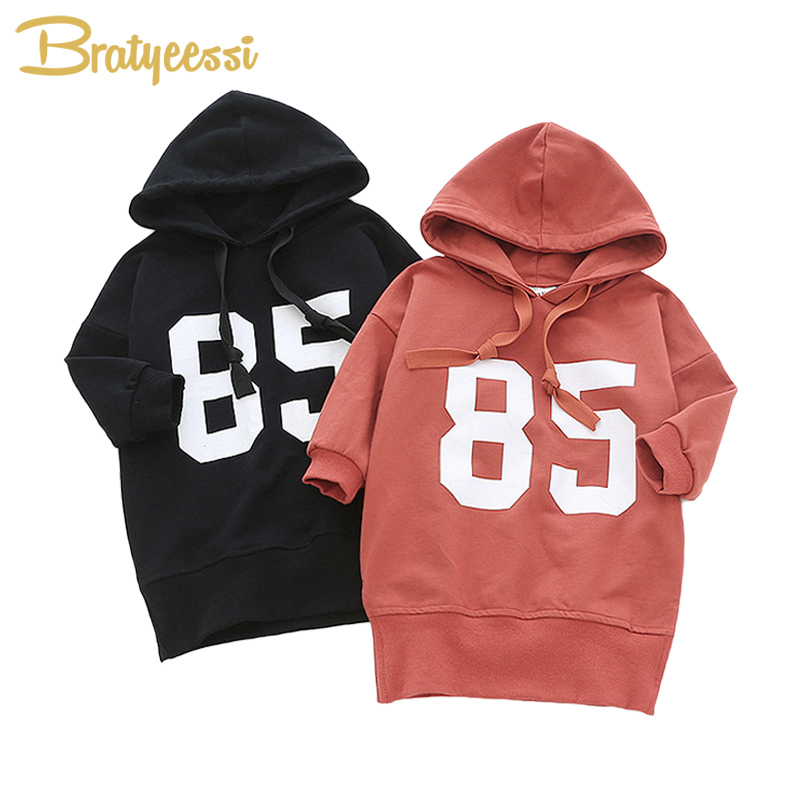 8b80aee91099 Casual Hooded Baby Girl Dress Long Sleeve Baby Girl Clothes Dresses Autumn  Winter Cotton Solid Toddler Clothes Infant Dress