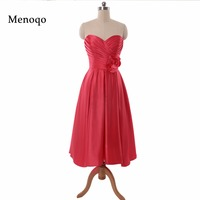 Real Photos Short Bridesmaid Dresses Sleeveless Tea Length Bridesmaid Dresses 2016 Vestido Para Festa Wedding Party