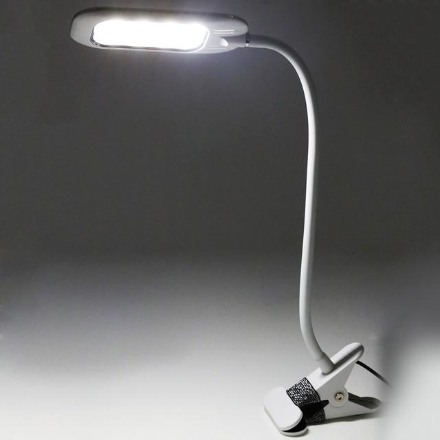 New Design LED USB Charge Desk Lamp Eye Protect Lightness Clip Fixed USB Children Reading Light Room Decoration Light Lamps