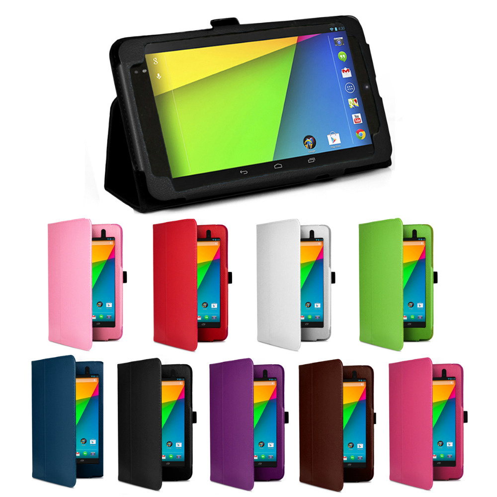 Fashion 2013 New Product Magnetic Slim PU Leather Stand Case Smart Cover For Google Nexus 7 FHD 2nd 7 7 inch Tablet PC