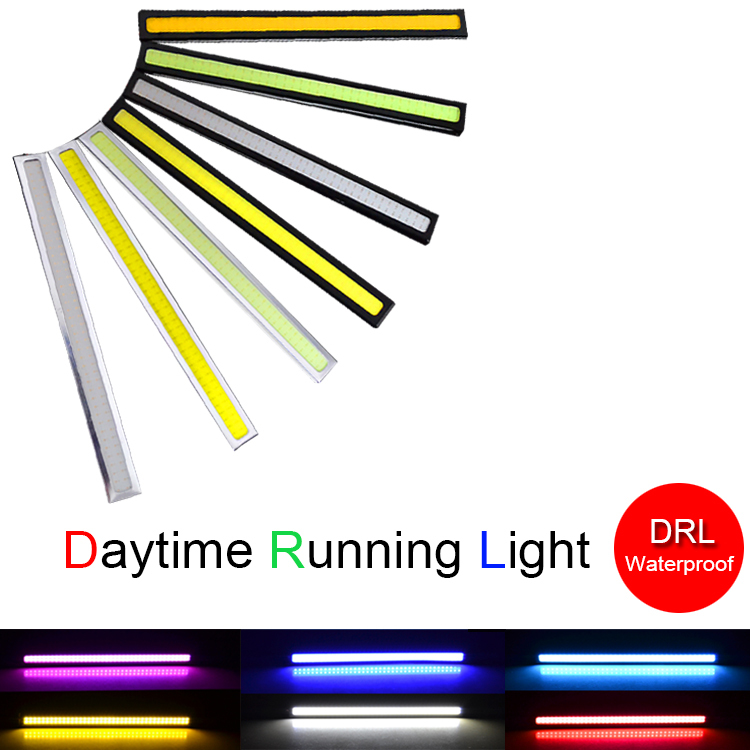 1Pcs Car styling Waterproof 17cm COB DRL LED Car Parking LED DRL Daytime Running  Auto Fog Lamp For Universal Car light source