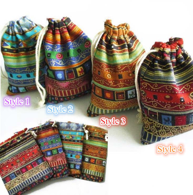 Egypt And India Mysterious Style Colorful Tassel Jewelry Bags 9 5 13cm Gift Candy Jute