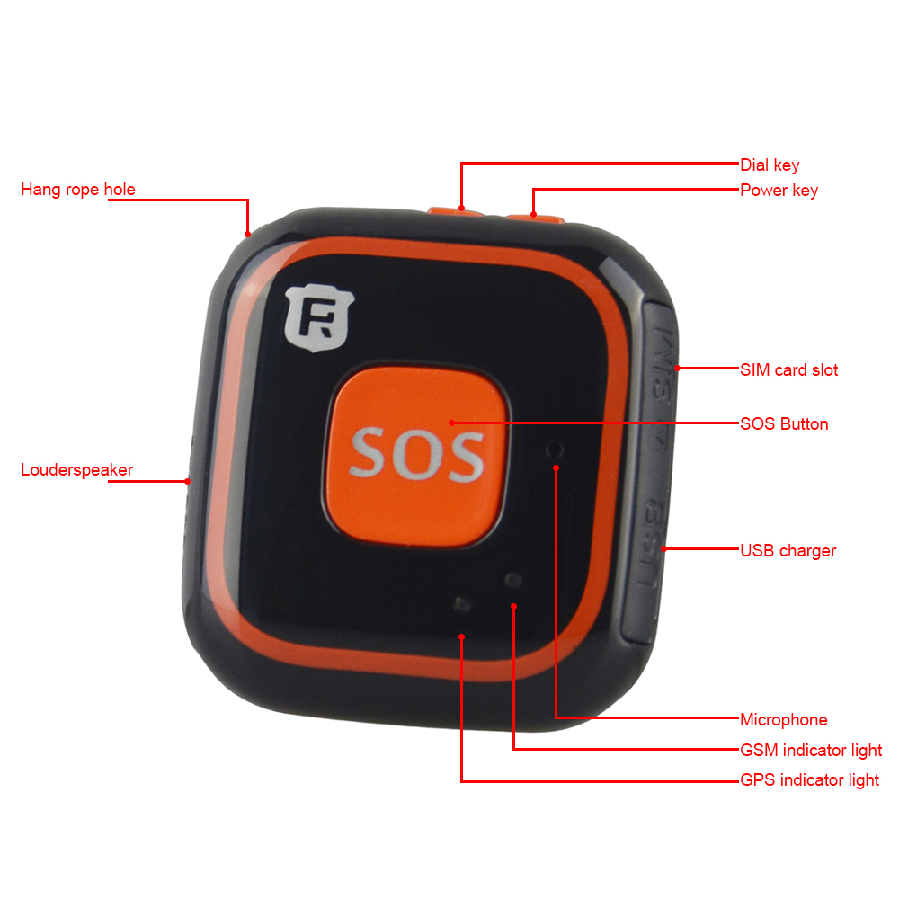 GPS Tracker RF-V28 For Children GPS Tracking SOS Button Pendant Mini  Personal GPS Tracker Children Locator With Google Map Track (Hot Price  11 11 /