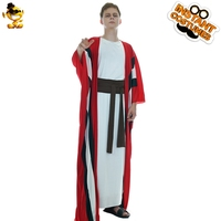 Adult Men's Abraham Costume Performance Carnival Party Cosplay Long Stripe Abraham Robe Costume