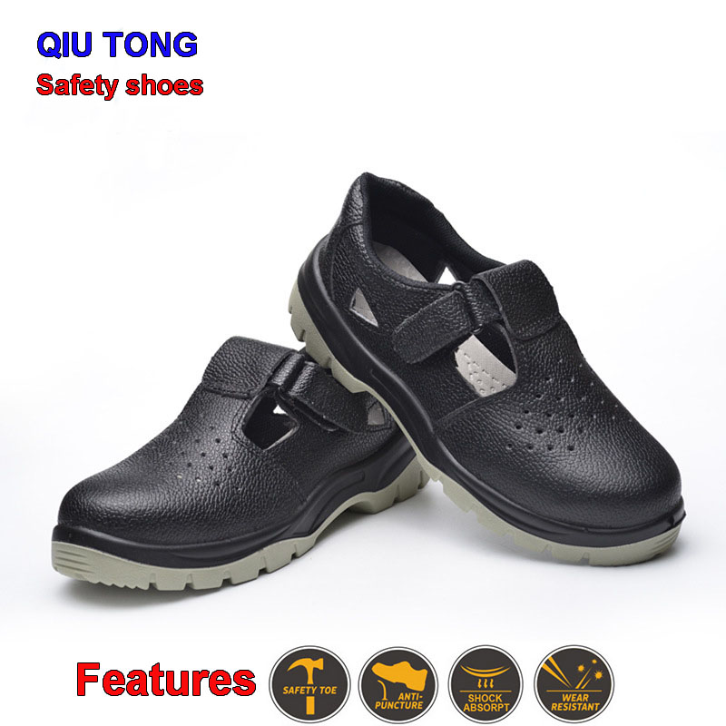 Men jobs Protective safety shoes Breathable Flood prevention Stab-proof Non-slip safety shoes Wear-resistant Safety shoes best chef shoes black rubber kitchen slip resistant shoes for women food industrial protective safety overshoes without lace
