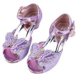 Осень детская обувь для девочек для детей принцесса бабочка цветок жемчуг блеск Повседневное кожа обувь для детей фиолетовый розовое