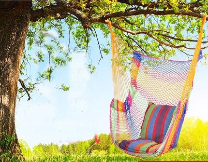 Breathable ice mesh hanging single chair swing outdoor mesh Summer beach hammock Swinging hammock adult children kids