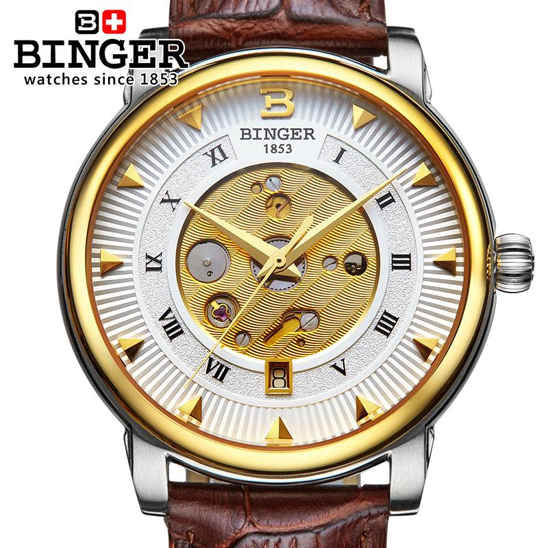 Wrist Watches Male Stainless Steel Skeleton Switzerland Automatic Mechanical Watch Men Reloj Hombre Sapphire Waterproof B-1160-4 switzerland automatic mechanical watch men stainless steel reloj hombre wrist watches male waterproof skeleton sapphire b 1160 3