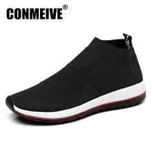 Heißer Verkauf Atmungsaktive Männer Schuhe Licht Wohnungen Loafers Beleg auf Männlichen Mesh Turnschuhe Luxus design marke Schwarz Casual Herren für schuhe