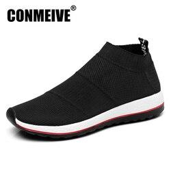 Hot البيع تنفس حذاء رجالي شبكة (شبكة الهواء) سوبرستار أحذية رياضية خفيفة الشقق الرجال المتسكعون الانزلاق على الذكور Chaussure أوم