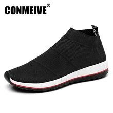 Zapatos planos ligeros transpirables para hombre, zapatillas masculinas de malla, sin cordones, de diseño lujoso, informales, color negro, gran oferta