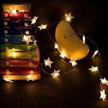 String Lights Star Battery USB LED 50LED Indoor Fairy  for Patio Wedding Bedroom Princess Castle Tents Decoration