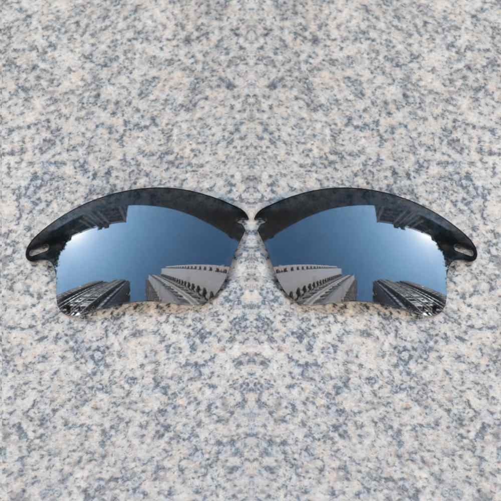 Venta al por mayor E. O. S. Lentes de repuesto polarizados mejorados polarizados para las gafas de sol de la chaqueta rápida de roble XL-Espejo polarizado negro