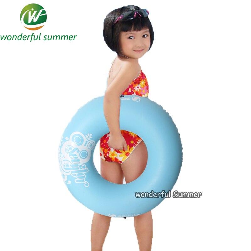 Ребенок Лето подарок к празднику надувной бассейн игрушки голубой бассейн кольцо с ручками для детей спасательный Поплавок Плот 80*35 см