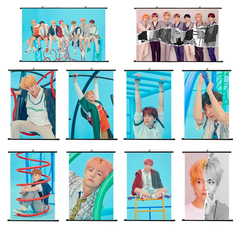 Jewelry Findings & Components Sporting Kpop Bts New Album Love Yourself:answer Mini Wall Scroll Poster Hanging Up Photo Home Decor Jewelry & Accessories