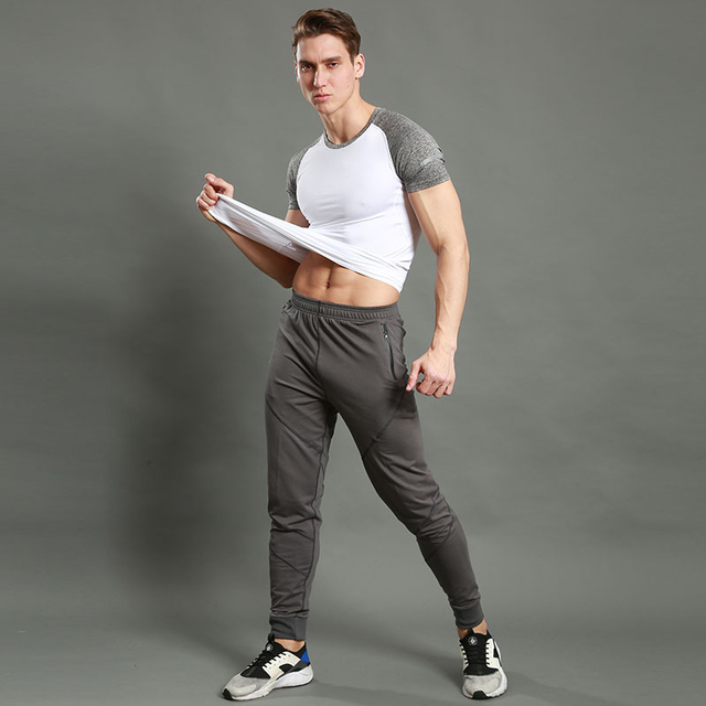 Quick drying Jogging Pants Men Fitness Joggers Running Pants Men Training Sport Leggings Sportswear Sweatpants Bodybuilding Tigh