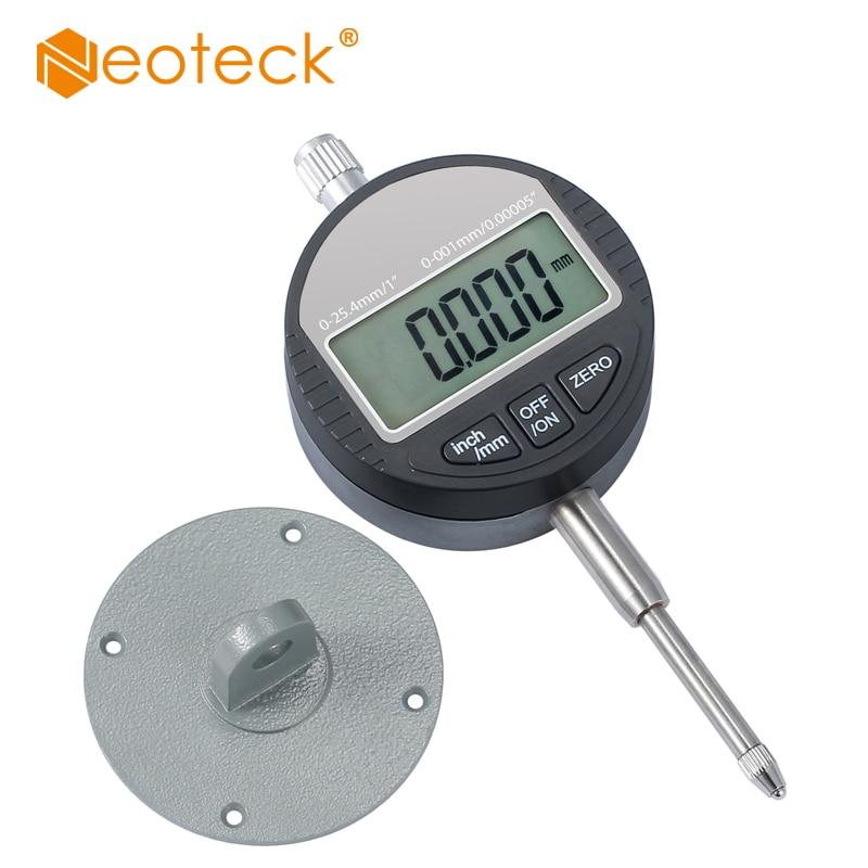 0,001/0,00005 ''Цифровой зонд индикатор набора Тесты цифровой микрометр 0 ~ 25,4 мм набрать диапазон Micro Указателю инструмент данных Выход