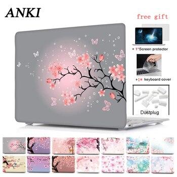 Bunga Sakura Hard Shell Case untuk Apple Macbook Air Pro Retina 11 11.6 12 13.3 15.4 Baru Pro 13 15 laptop Keyboard Cover + Film
