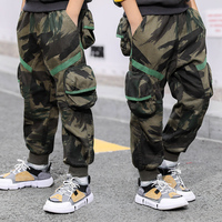 Boys Cargo Pants 2019 Spring High Quality Teenage Boy Clothing Kids Pants Boy Trousers Children Cotton Pants Size 5 7 9 13 Year