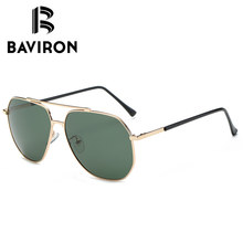 Baviron dünne metall abgewinkelt version fahren brille männer gradienten perfekte new designer sonnenbrille männlichen klassischen retro gläser 7000