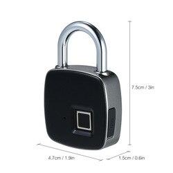Mały odcisk palca elektroniczna inteligentna kłódka blokada hasła blokada gospodarstwa domowego zabezpieczenie przed kradzieżą blokada z użyciem linii papilarnych darmowa wysyłka