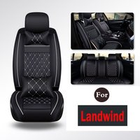 Leather Auto Car Chair Seat Cover Pew Pu Leather Car Front Back Bucket Seat Covers Solid 5 Color Mats For Landwind X7 X5 X9 X6