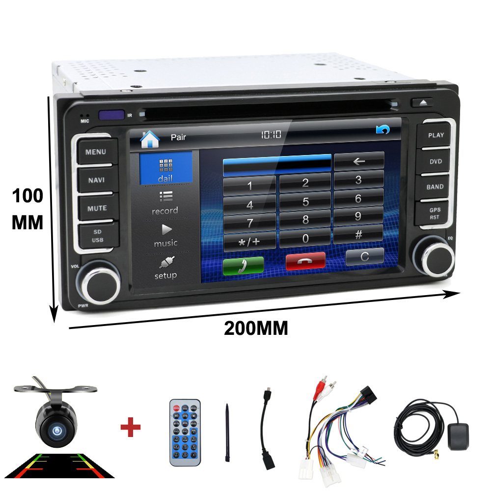 2 din Car DVD radio GPS fit for Toyota Hilux yaris VIOS Camry Corolla Prado RAV4 Prado 2003 2004 2005 2006 2007 2008 free camera
