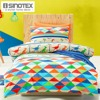 2pcs Dinoland Bedding Set For Children Kids Cartoon Printed Pattern Single Bed Duvet Quilt Cover Pillowcase