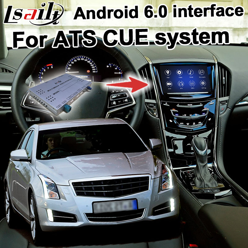 Android navigation box for Cadillac ATS etc Cadillac CUE system video interface with mirror link GPS waze yandex youtube