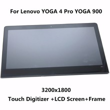 QHD 3200×1800 Laptop Voll LCD Display Touch Screen Digitizer-bereich Montage Ersatz Für Lenovo YOGA 4 Pro YOGA 900 13ISK