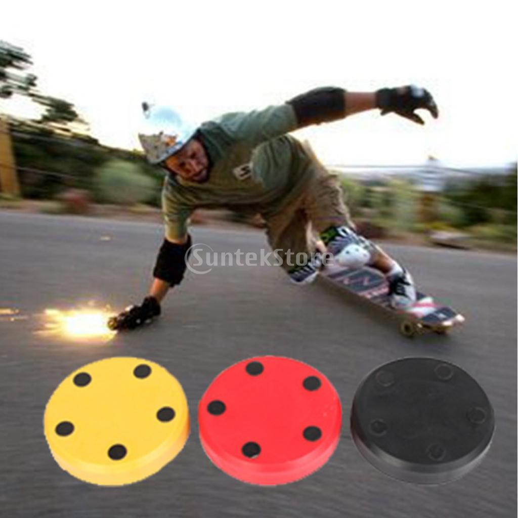2pcs Professional Longboard Skateboard Slider Blocks Slider Palm Hand Wrist Guards Protector For Downhill Sliding Gloves