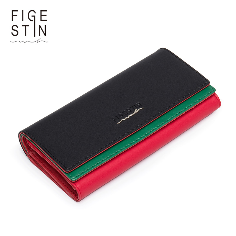 FIGESTIN Women Wallet Luxury Wallet Female Panelled Split Leather Wallet Women Clutch Lady Party Purse Women Long Coin Money Bag fashion women leather wallet clutch purse lady short handbag bag women small purse lady money bag zipper luxury brand wallet hot