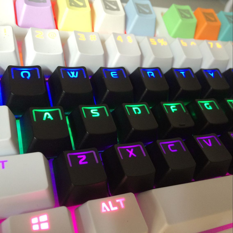 цена на 104 Double-shot Translucidus Backlit ABS Keycaps for Mechanical Keyboards (cherry switches compatible)ANSI Mechanical Keyboard