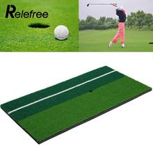 Relefree New Backyard Golf Mat 12″x 24″ Residential Training Hitting Pad Practice Rubber Tee Holder Grass Outdoor Indoor