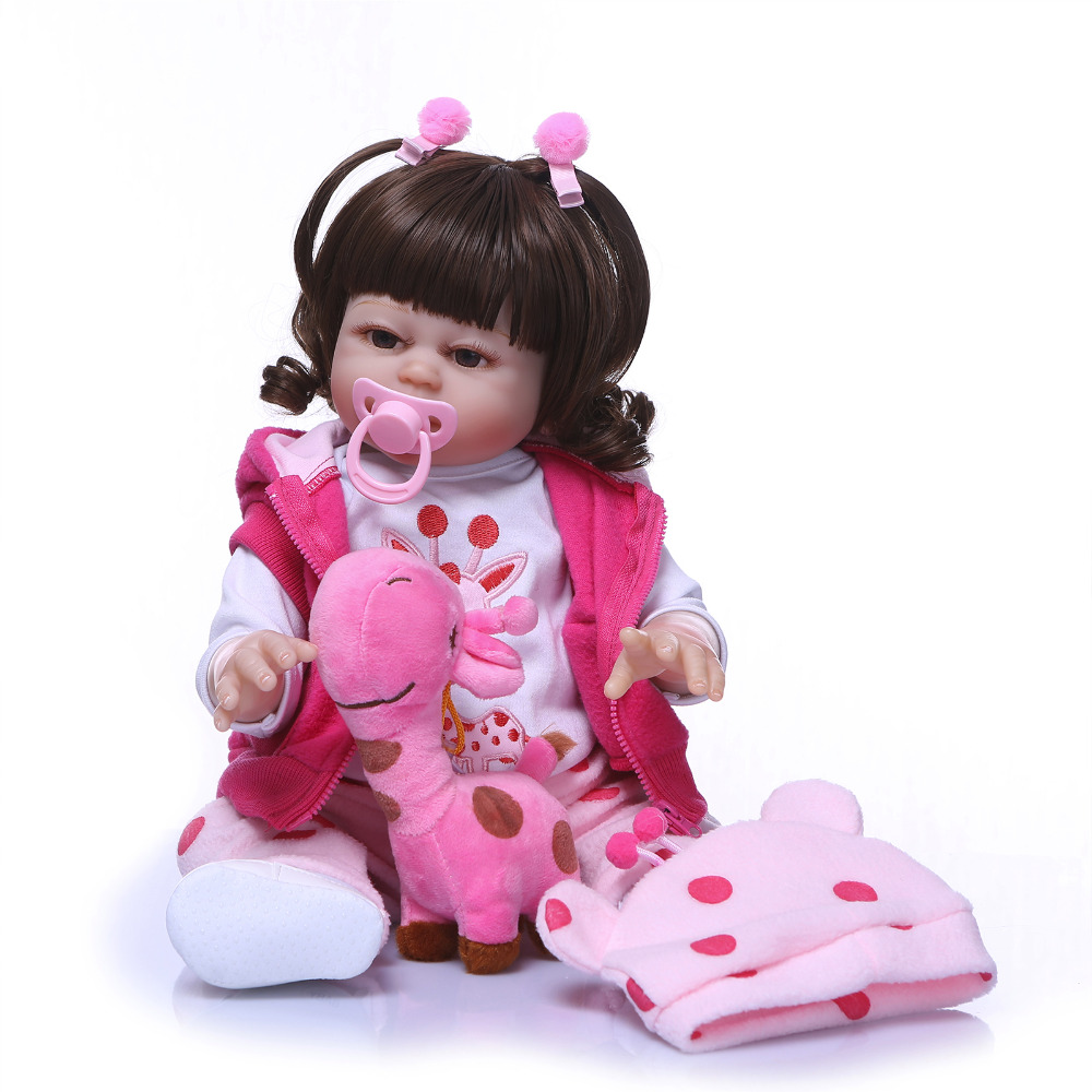 Nicery 20inch 50cm Bebe Reborn Doll Hard Silicone Boy Girl Toy Reborn Baby Doll Gift for Children Pink Coat Pink Hat nicery 18inch 45cm reborn baby doll magnetic mouth soft silicone lifelike girl toy gift for children christmas pink hat close