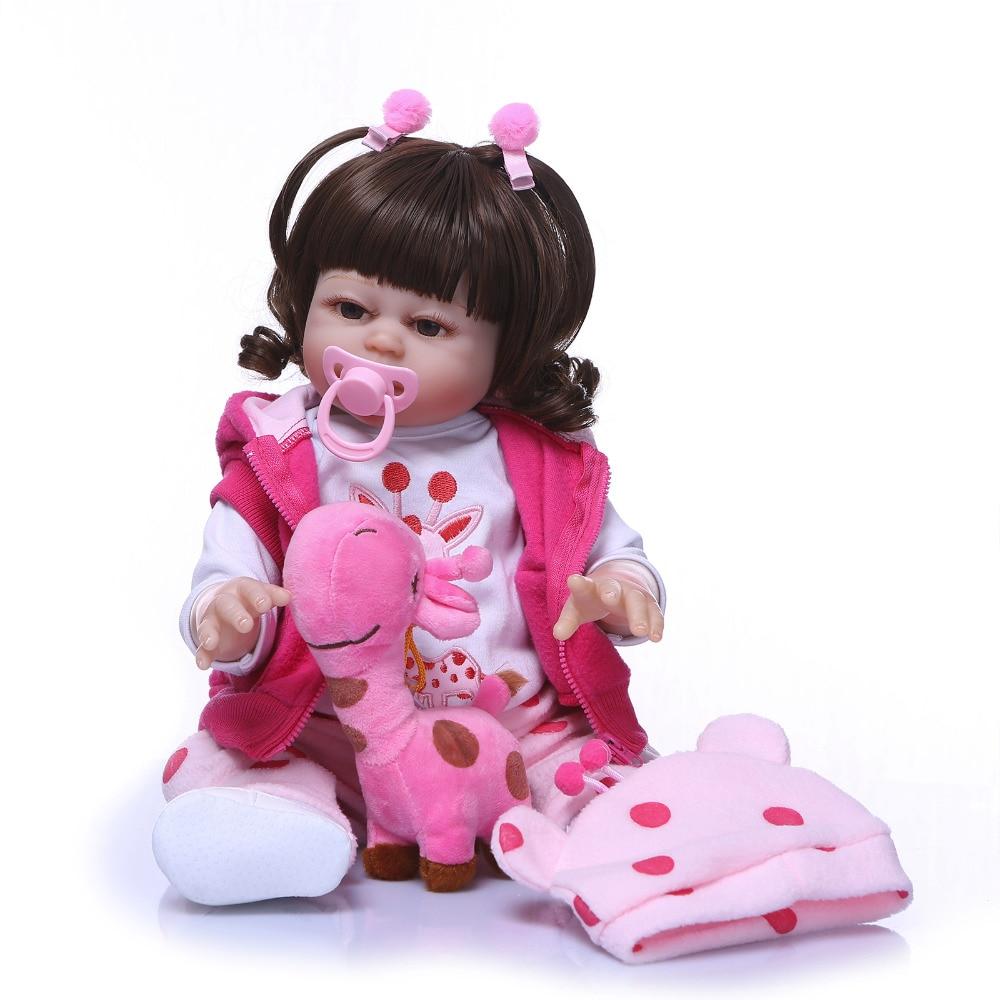 Nicery 20inch 50cm Bebe Reborn Doll Hard Silicone Boy Girl Toy Reborn Baby Doll Gift for Children Pink Coat Pink HatNicery 20inch 50cm Bebe Reborn Doll Hard Silicone Boy Girl Toy Reborn Baby Doll Gift for Children Pink Coat Pink Hat