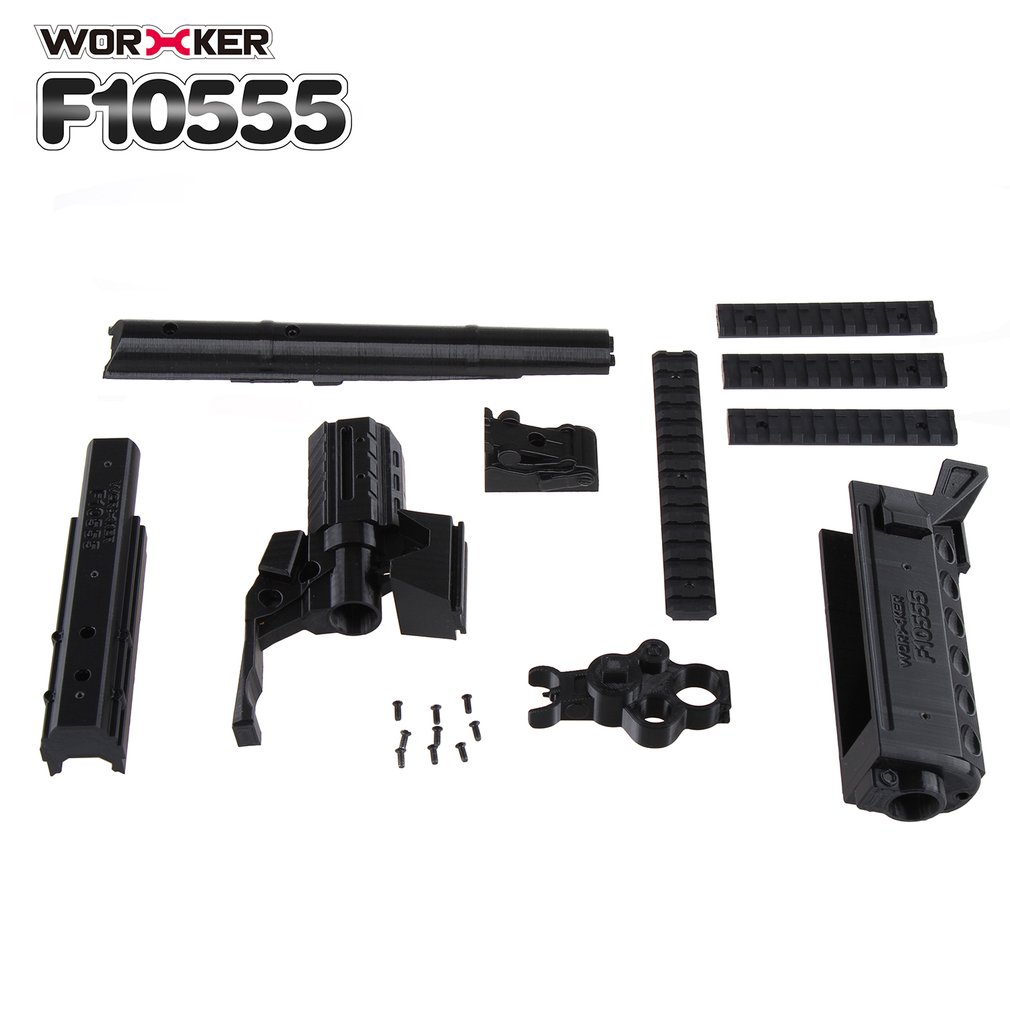 3D Printing Modularization NO.105 AK Series Long Type Modified Kit Barrel Kit Suitable for Nerf Stryfe Toys(Type A)
