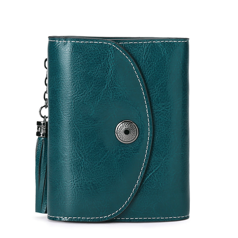 Mini Women Genuine Leather Wallet Small Ladies Short Purse Card Holder Coin Pocket Female Clutch Bag Cartera Mujer